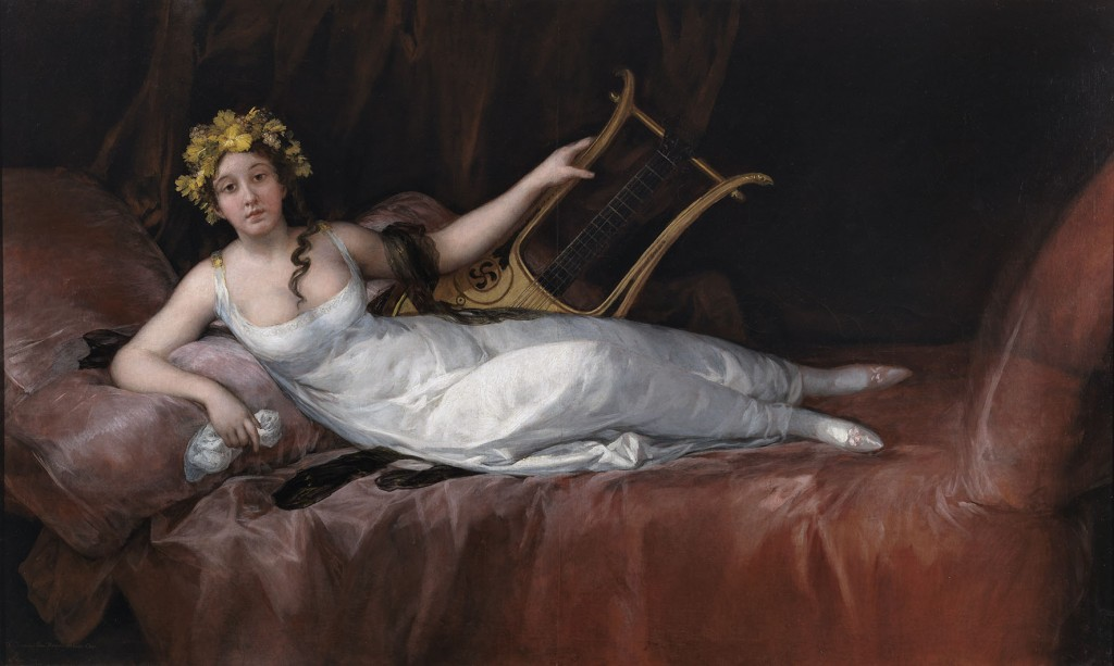 Marquesa de Santa Cruz reclinada, 1805. ©Museo del Prado, Madrid.